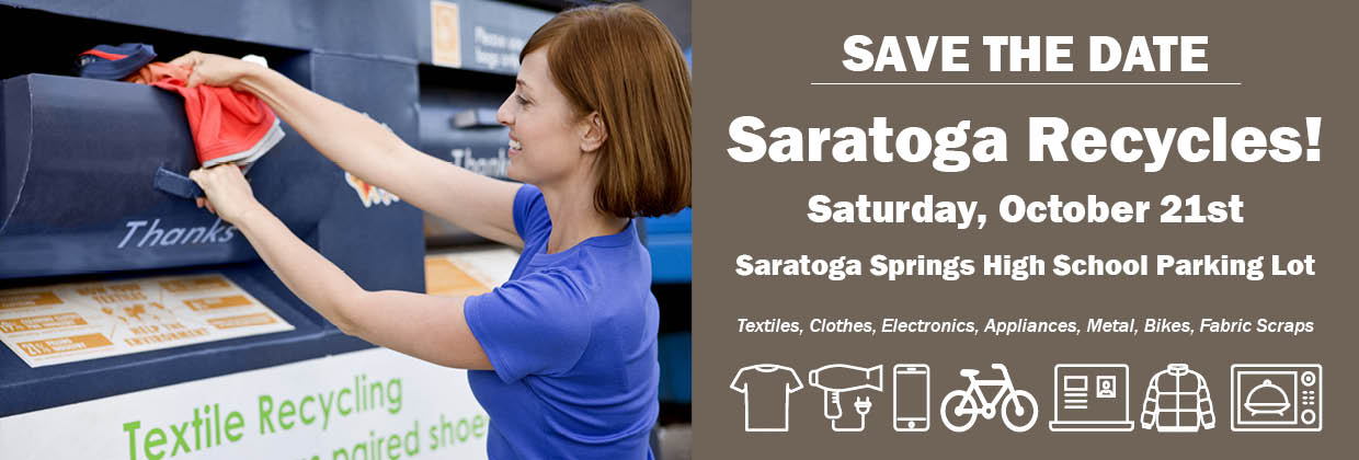 Save the Date: Saratoga Recycles - Oct. 20th